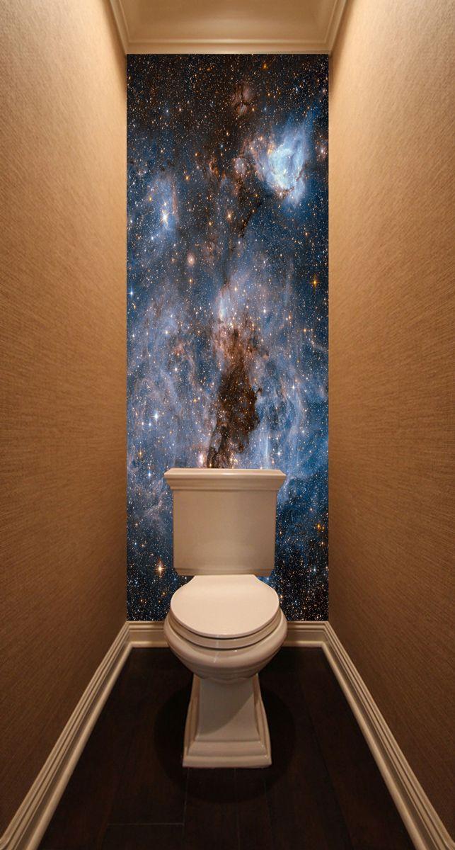 Фотообои в туалет - Глубокий космос магазин Интерьерные наклейки