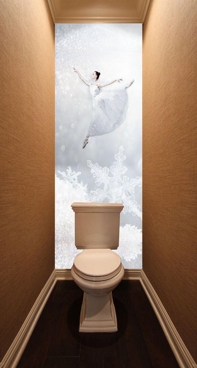 Фотообои в туалет - Холодно? Попрыгай! магазин Интерьерные наклейки