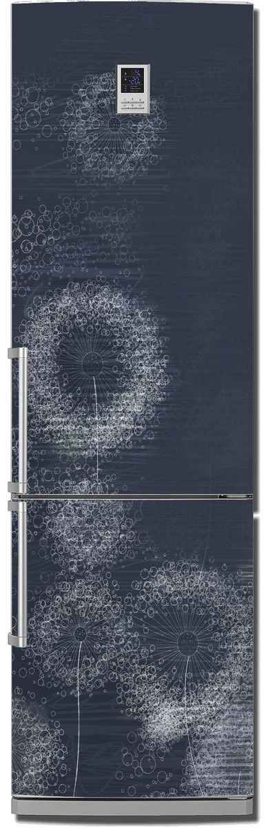 Виниловая наклейка на холодильник - Ночной ветер