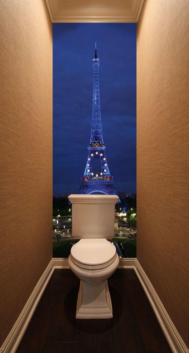 Фотообои в туалет - Paris магазин Интерьерные наклейки