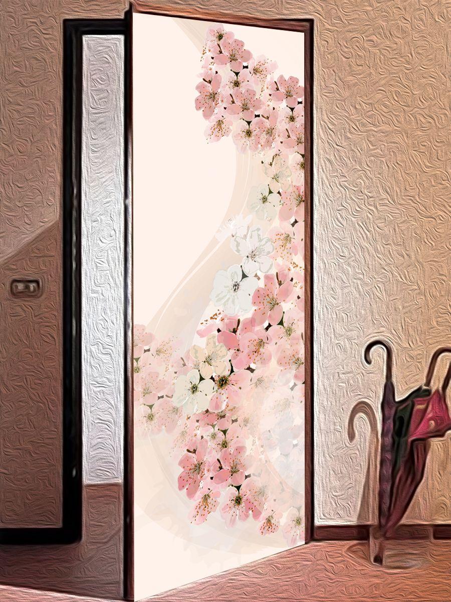Наклейка на дверь - Вуаль весны | магазин Интерьерные наклейки