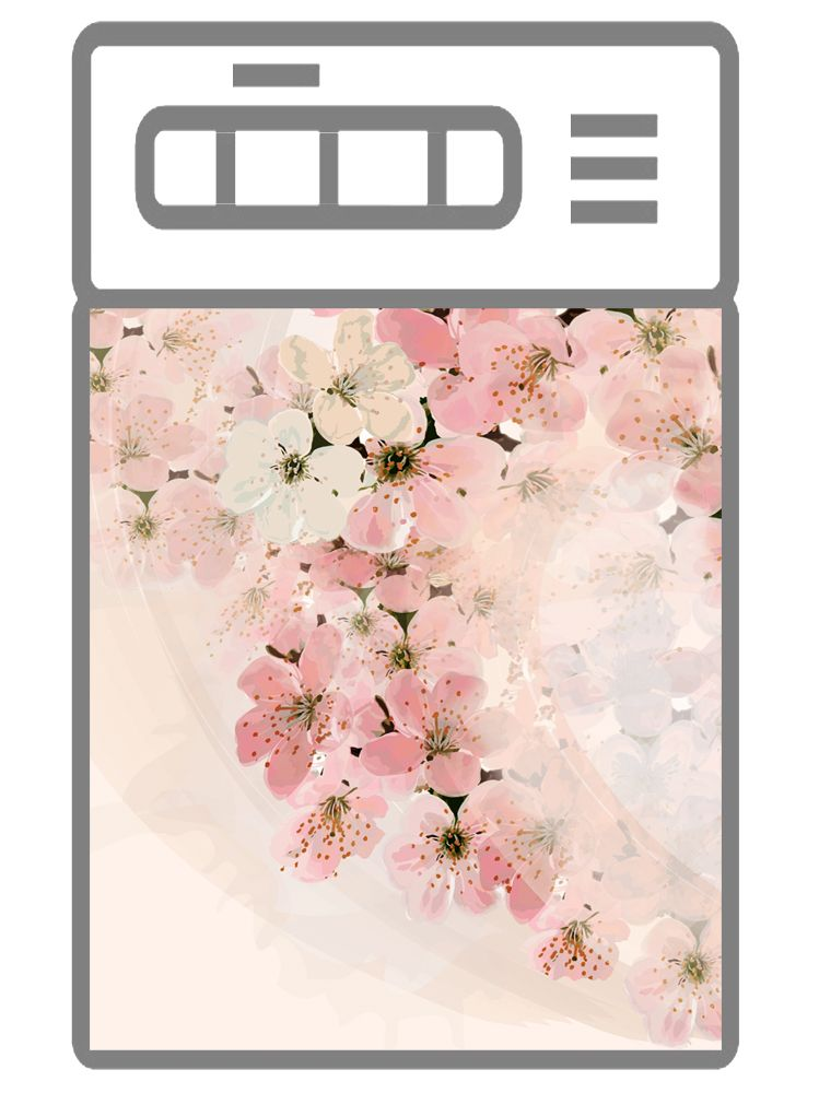 Наклейка на посудомоечную машину - Вуаль весны