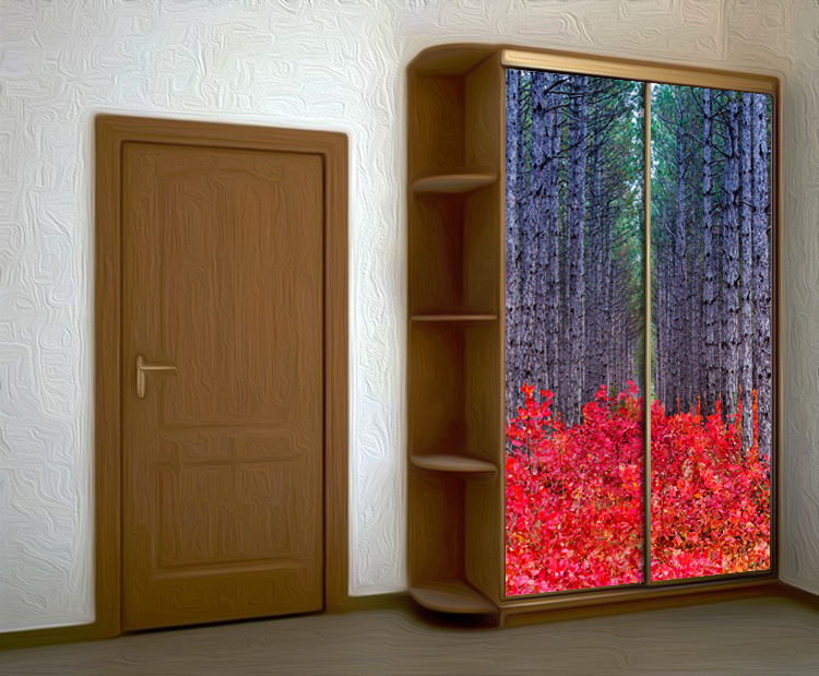 Wardrobe Stickers - Red Forest by X-Decor