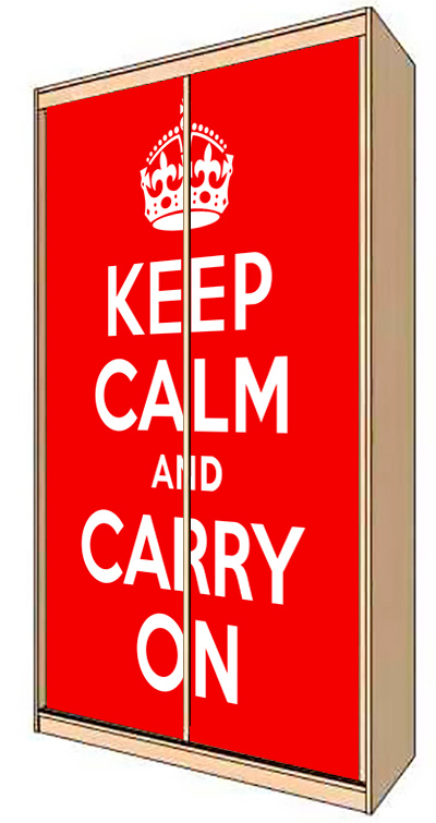 Wardrobe Stickers - Keep calm by X-Decor