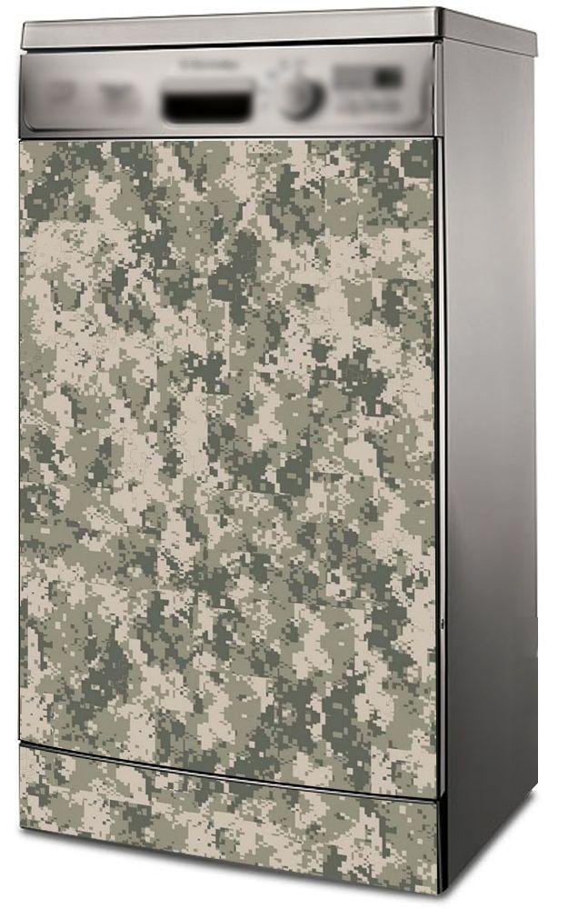 Наклейка на посудомоечную машину -  Камуфляж пиксель