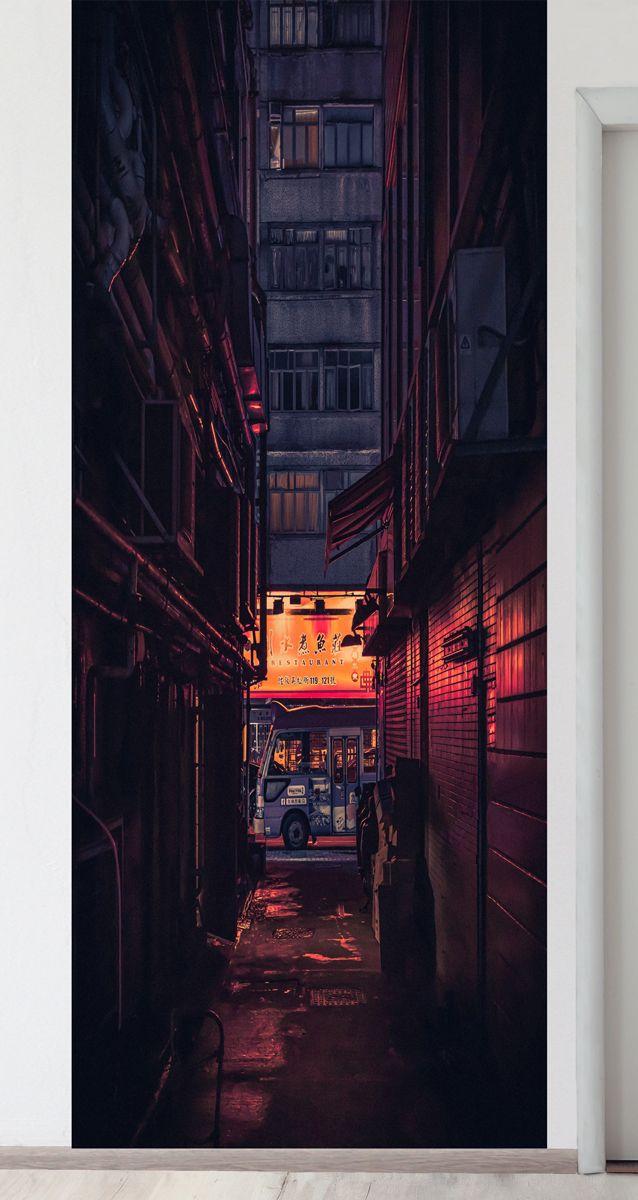 Панно на стену - Японский квартал магазин Интерьерные наклейки