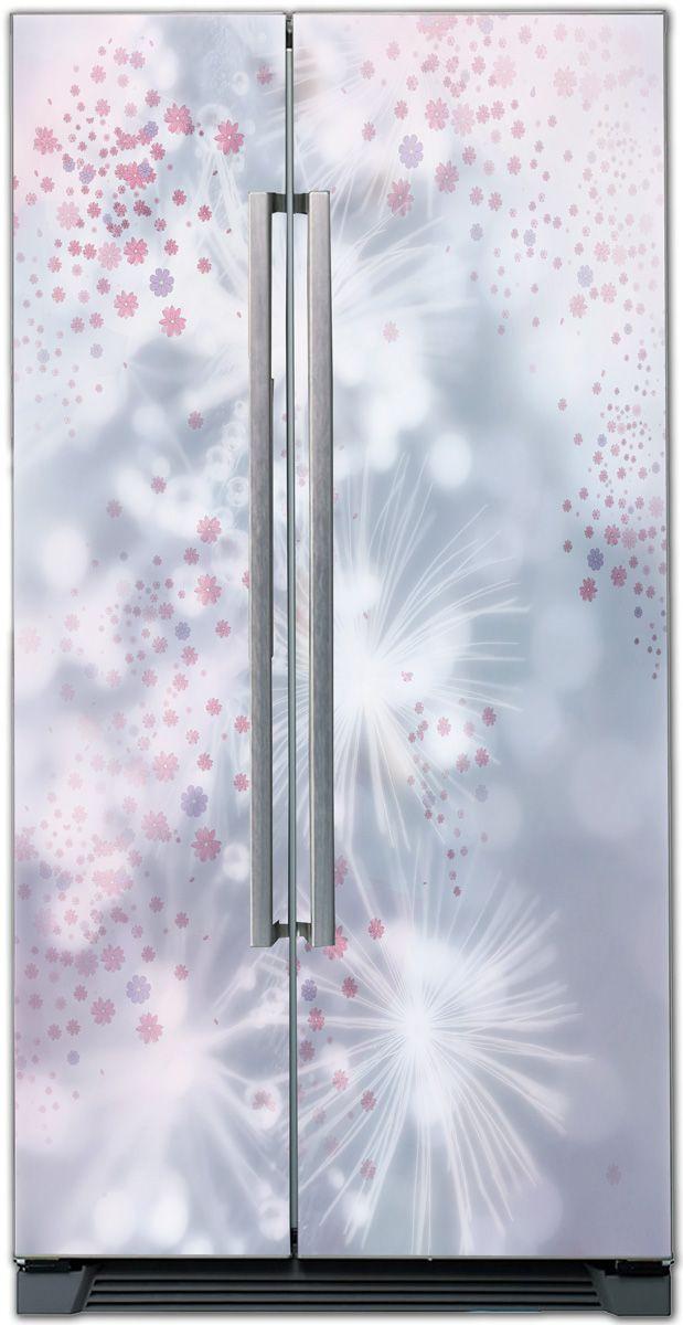 Виниловая наклейка на холодильник - Феерия