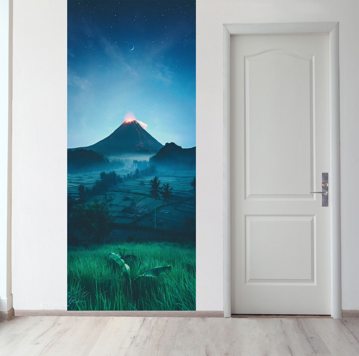 Панно на стену - Подножие вулкана магазин Интерьерные наклейки
