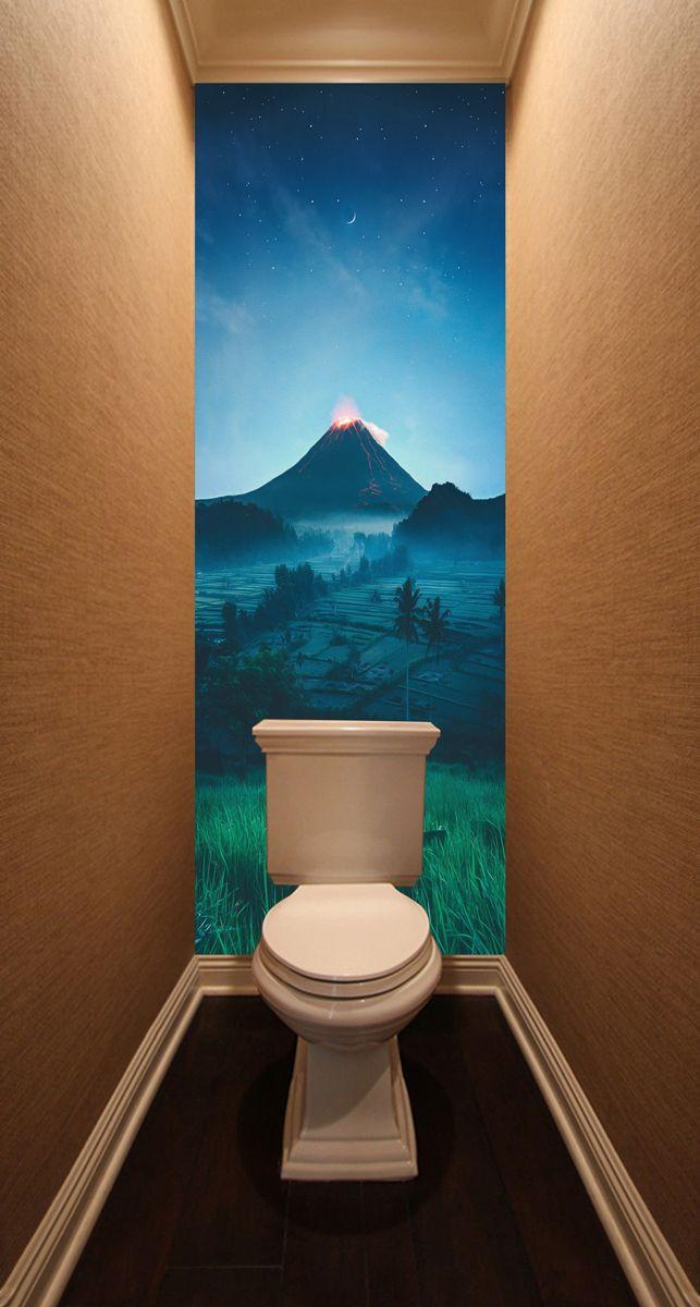 Фотообои в туалет - Подножие вулкана магазин Интерьерные наклейки
