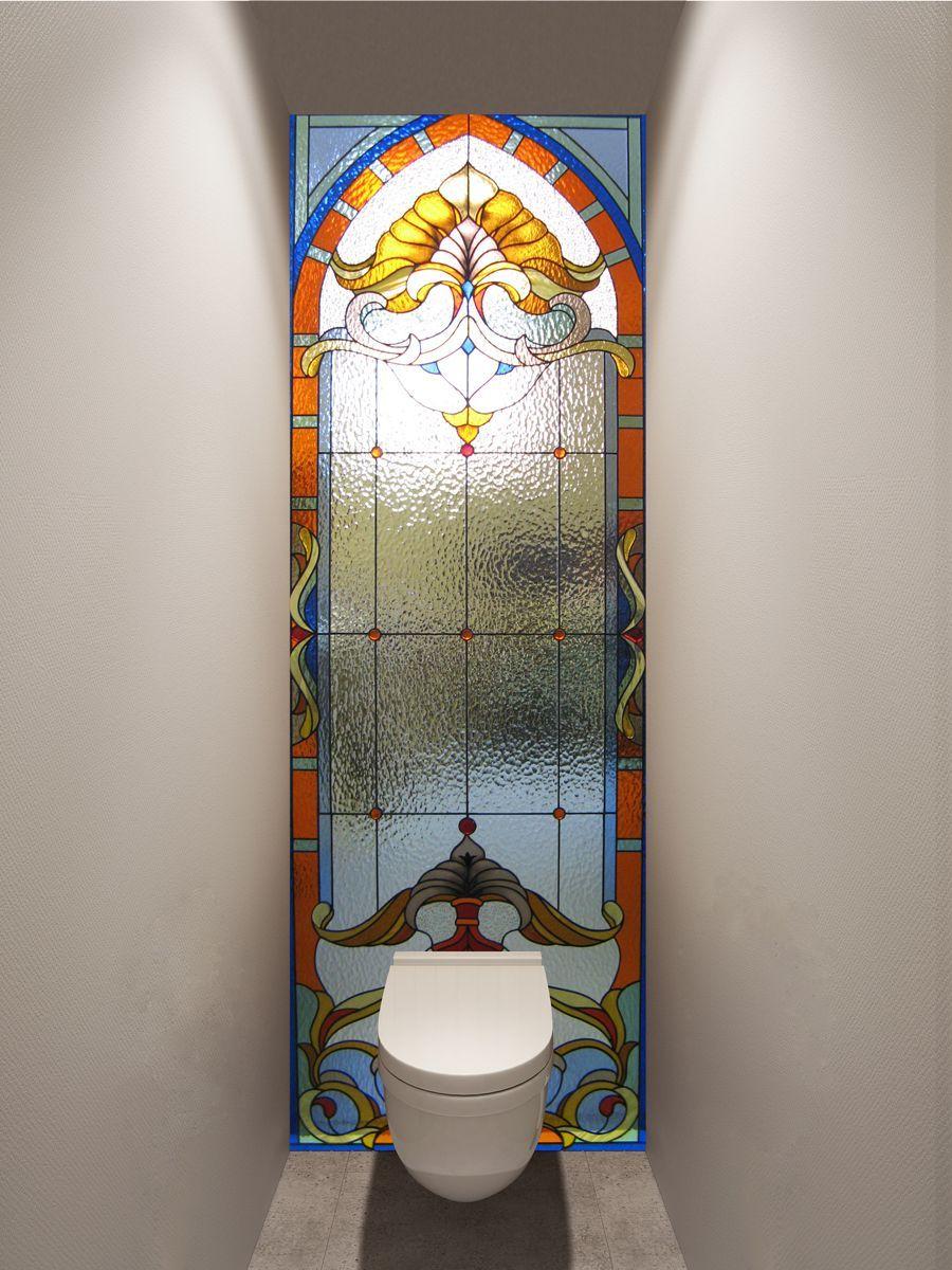 Фотообои в туалет - Стеклянная дверь магазин Интерьерные наклейки
