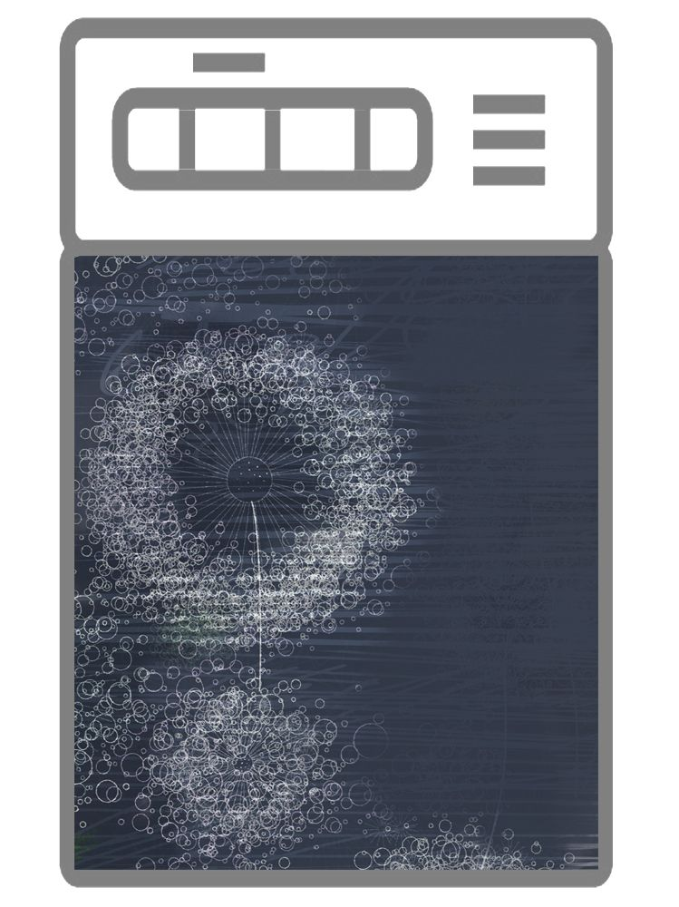 Наклейка на посудомоечную машину - Ночной ветер
