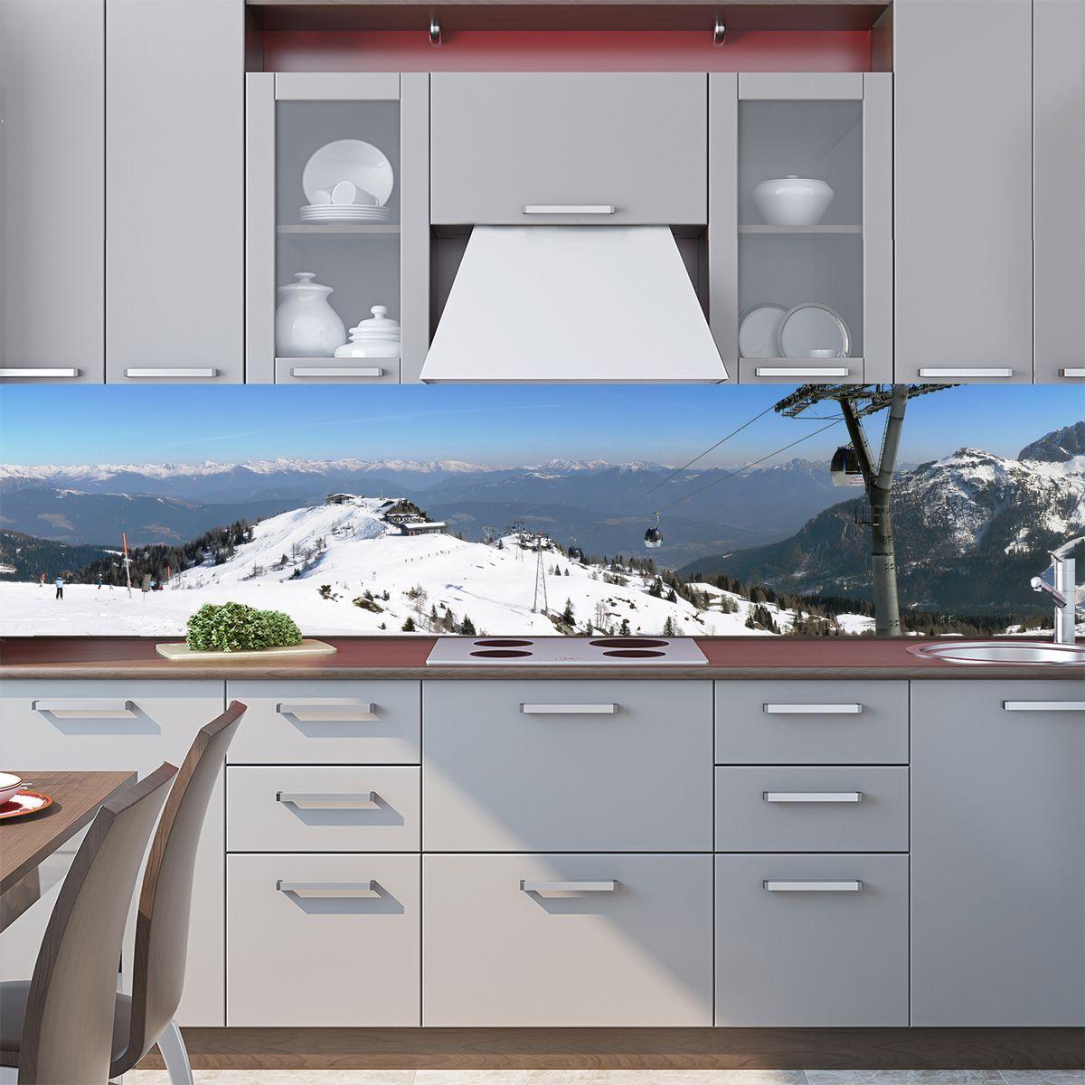 Kitchen Backsplash - Outside the window of the Alps